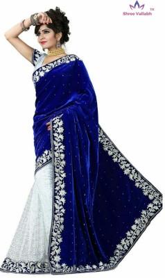 Shree Vallabh Embriodered Bollywood Velvet Sari