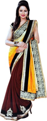 Valacreation Embriodered Fashion Jacquard Sari