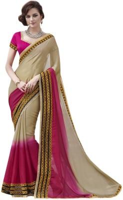 DesiButik Embriodered Fashion Chiffon Sari