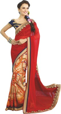 Heart & Soul Self Design Fashion Georgette Sari