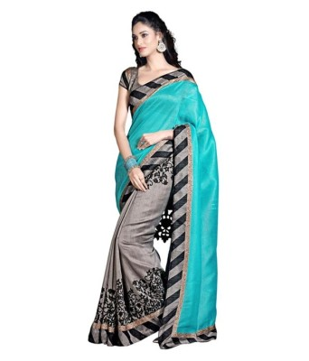 Poonam Saree Printed Bhagalpuri Silk Sari available at Flipkart for Rs.380