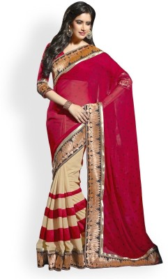 Saiyaara Fashion Embellished Bollywood Georgette, Chiffon Sari
