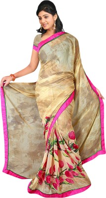 Premium Fashion Printed Fashion Synthetic Georgette Sari