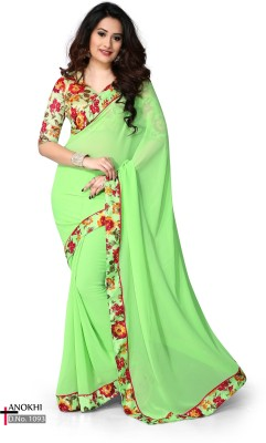 Radhe Studio Floral Print Fashion Georgette Sari