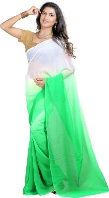 Aaditri Plain Daily Wear Chiffon Sari