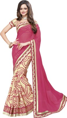 Amayra Fashions Embellished, Self Design, Solid Fashion Georgette Sari