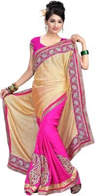 Preeti Self Design Bollywood Satin Sari