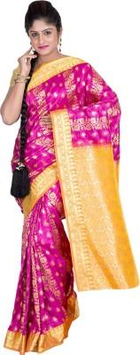 F3 Apparels Chevron Kanjivaram Art Silk Sari