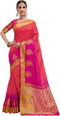 5c95835f0f 55% OFF on Taanshi Self Design Kanjivaram Tussar Silk Sari(Pink ...
