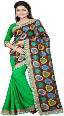 Om sai creation Floral Print Bhagalpuri Georgette Sari