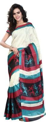 Ambaji Printed Daily Wear Silk Sari