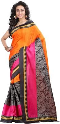 Cutie Fashion Printed Bhagalpuri Banarasi Silk Sari