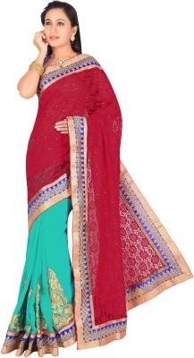 Maruti Fashion Solid Bollywood Brasso Sari