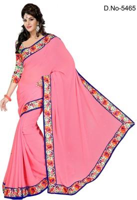 F3 Fashion Self Design Fashion Chiffon Sari