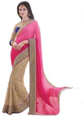 NARGIS FASHION Embriodered Fashion Net Sari
