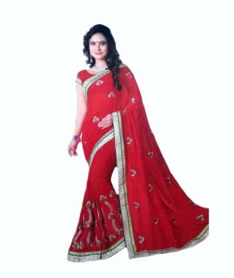 RoopSangamz Embriodered Bollywood Georgette Sari