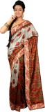 Womilo Floral Print Daily Wear Jute, Sil...