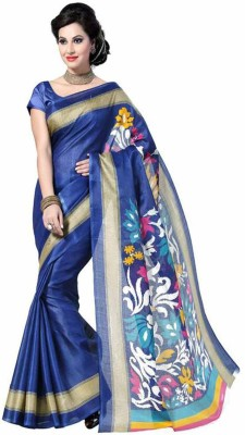 Shivam Saree Solid Bollywood Art Silk Sari