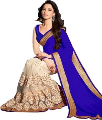 SareeShop Embriodered Bollywood Georgette, Net Sari