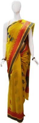Bubbles Embriodered Mangalagiri Handloom Raw Silk Sari