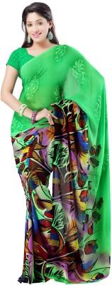 Tanishka Floral Print Bollywood Georgette Sari