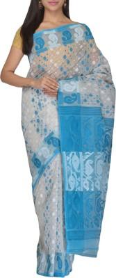 Rudrakshhh Embroidered Jamdani Handloom Cotton Saree(Multicolor) at flipkart