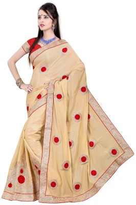 Vani Creations Embriodered Bollywood Handloom Chenille Sari
