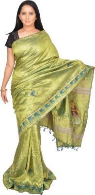 Siri Arts Geometric Print Bhagalpuri Handloom Silk Sari