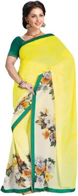360bazaar Printed Fashion Georgette Sari