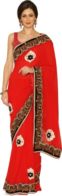 Senses Self Design Fashion Georgette Sari