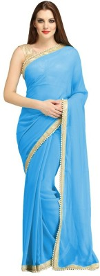 Jp Enterprise Plain Fashion Georgette Sari