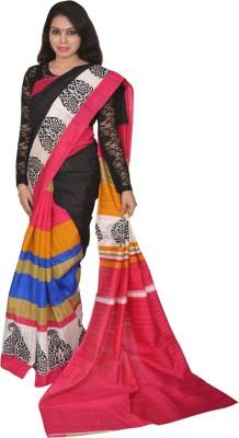 AtiGrens Printed Bhagalpuri Art Silk Sari