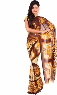 Ganes Printed Daily Wear Georgette Sari