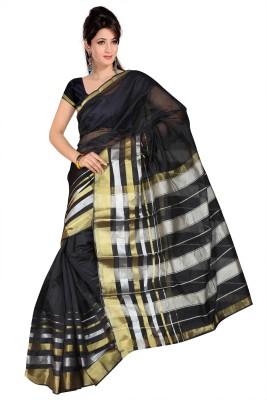 RiaFashion Solid Banarasi Cotton Sari