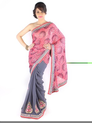 Suchi Fashion Embriodered Fashion Chiffon Sari
