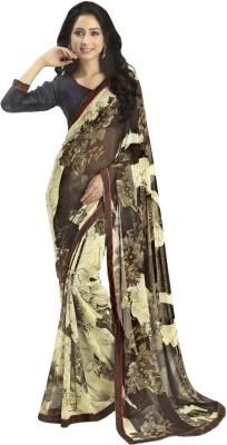 Myntas DXL Floral Print Daily Wear Georgette Sari