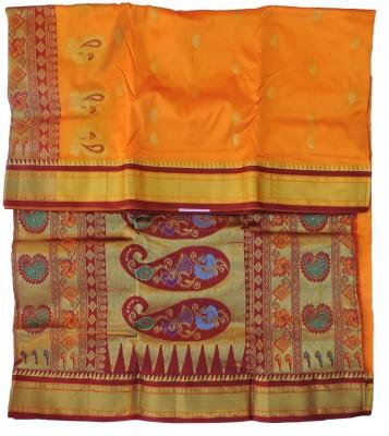 shri mahalaxmi sarees Self Design Paithani Handloom Silk Sari