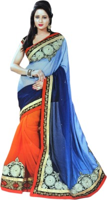 Valacreation Embriodered Fashion Chiffon Sari