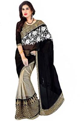 MatindraEnterprise Embriodered Fashion Handloom Brocade Sari