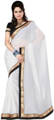 SFC Solid Fashion Handloom Georgette Sari