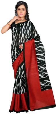 Mann Geometric Print Fashion Printed Silk Sari