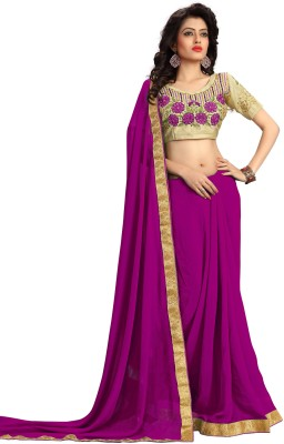 Stylezone Embriodered Fashion Georgette Sari