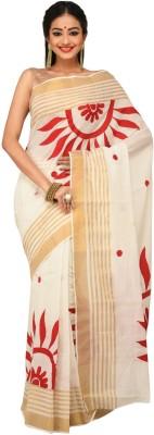 Sudeshnasboutique Applique Fashion Handloom Cotton Sari
