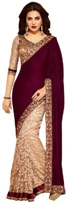 Maitri Fashion Embriodered Fashion Brasso Sari