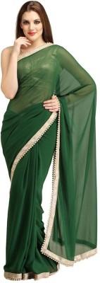 Sharleez Solid Fashion Georgette Sari