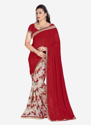 Royal Choice Floral Print Fashion Georgette Sari