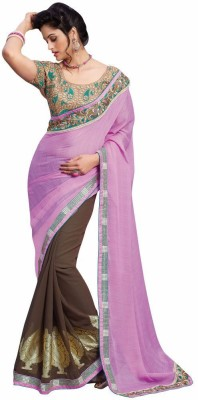 Mukta Mishree Exports Embriodered Fashion Chiffon, Brasso Sari