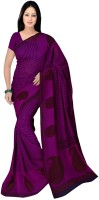 Manthan Printed Daily Wear Georgette Sari(Pink)