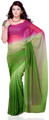 Swikriti Creations Printed Fashion Georgette Sari
