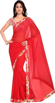 Hitansh Fashion Printed Fashion Georgette Sari
